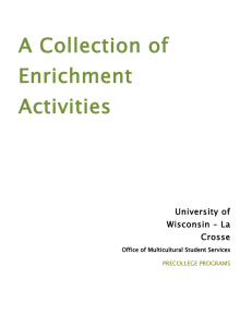 A Collection of Enrichment Activities University of