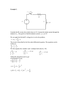 Example 3.  inductor is