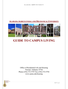 GUIDE TO CAMPUS LIVING A M