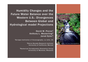 Humidity Changes and the Future Water Balance over the Western U.S.: Divergences