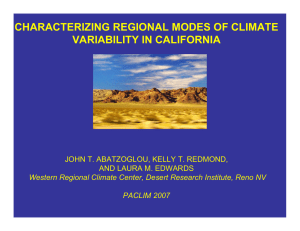 CHARACTERIZING REGIONAL MODES OF CLIMATE VARIABILITY IN CALIFORNIA AND LAURA M. EDWARDS