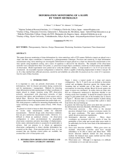 DEFORMATION MONITORING OF A SLOPE BY VISION METROLOGY