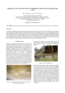 MODELING AND VISUALIZATION OF ABORIGINAL ROCK ART IN THE BAIAME CAVE