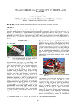 TOWARDS IN-FLIGHT QUALITY ASSESSMENT OF AIRBORNE LASER SCANNING