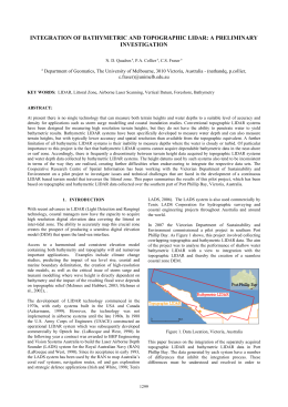 INTEGRATION OF BATHYMETRIC AND TOPOGRAPHIC LIDAR: A PRELIMINARY INVESTIGATION