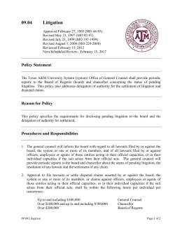 09.04 Litigation