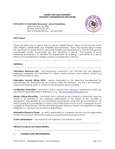 PRAIRIE VIEW A&M UNIVERSITY UNIVERSITY ADMINISTRATIVE PROCEDURE