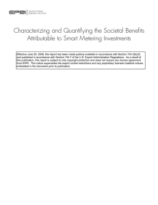 Characterizing and Quantifying the Societal Benefi ts