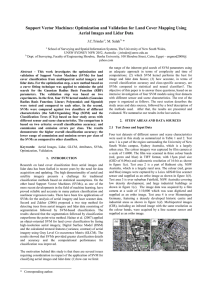 Support Vector Machines: Optimization and Validation for Land Cover Mapping... Aerial Images and Lidar Data