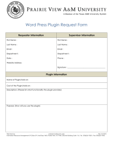 Word Press Plugin Request Form Requestor Information Supervisor Information