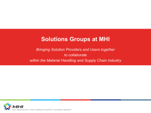 Solutions Groups at MHI