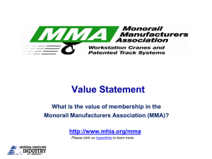 Value Statement What is the value of membership in the