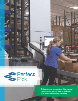 Delivering an automated, high-speed, goods-to-person picking solution to the material handling industry.