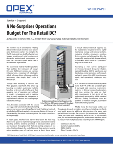 A No-Surprises Operations Budget For The Retail DC? whitepaper