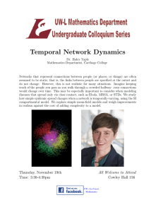 Temporal Network Dynamics