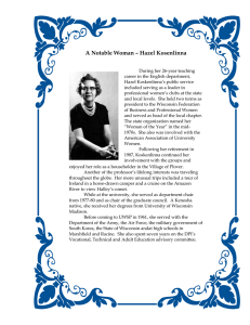 A Notable Woman – Hazel Kosenlinna