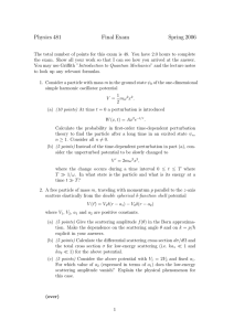 Physics 481 Final Exam Spring 2006