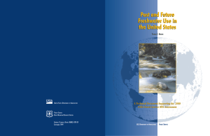 Past and Future Freshwater Use in the United States