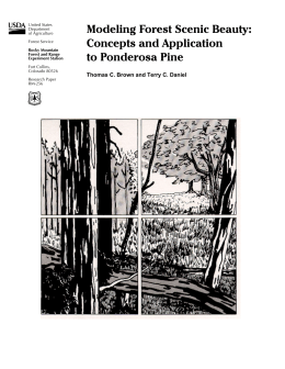 Modeling Forest Scenic Beauty: Concepts and Application to Ponderosa Pine