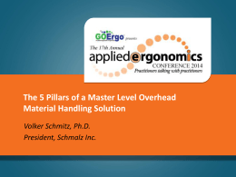 The 5 Pillars of a Master Level Overhead Material Handling Solution