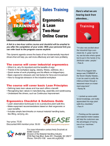 Sales Training Ergonomics & Lean Two-Hour