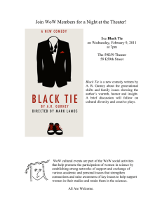 Join WoW Members for a Night at the Theater! Black Tie