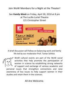 Join WoW Members for a Night at the Theater!  Family Week at The Lucille Lortel Theatre  121 Christopher Street