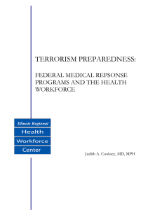 TERRORISM PREPAREDNESS:  FEDERAL MEDICAL REPSONSE PROGRAMS AND THE HEALTH