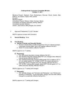 Undergraduate Curriculum Committee Minutes October 11, 2011