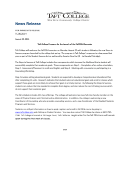 News Release  FOR IMMEDIATE RELEASE TC 08.20.14