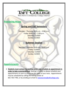 Proctoring Hours Spring and Fall Semesters Summer Session