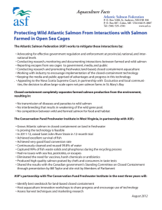 Aquaculture Facts Atlantic Salmon Federation