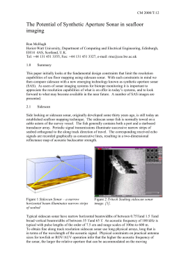 The Potential of Synthetic Aperture Sonar in seafloor imaging