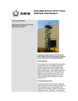 ! !! Quad High Scissor Lift for Texas A&M Kyle Field Stadium