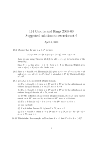 114 Groups and Rings 2008–09 Suggested solutions to exercise set 6