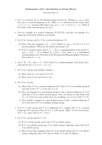 Mathematics 1214: Introduction to Group Theory Exercise sheet 11