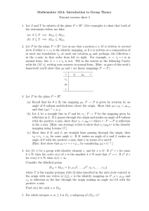 Mathematics 1214: Introduction to Group Theory Tutorial exercise sheet 5