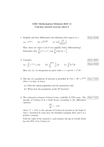1M01 Mathematical Methods 2010–11 Calculus tutorial exercise sheet 8