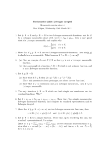 Mathematics 2224: Lebesgue integral Homework exercise sheet 4