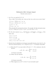Mathematics 2224: Lebesgue integral Tutorial exercise sheet 3