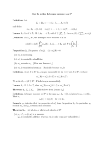 How to define Lebesgue measure on R Definition. Let I