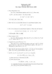 Mathematics 442C Exercise sheet 2 Due 12pm, Thursday 29th October 2009