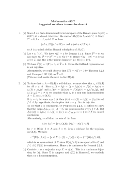 Mathematics 442C Suggested solutions to exercise sheet 4