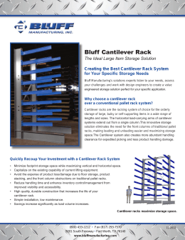Bluff Cantilever Rack Creating the Best Cantilever Rack System