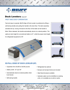 Dock Levelers FAST AND EASY OPERATION
