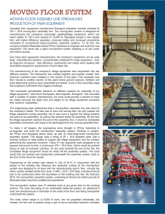 MOVING FLOOR SYSTEM MOVING-FLOOR ASSEMBLY LINE STREAMLINES PRODUCTION OF FARM EQUIPMENT