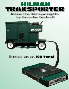 Moves Up to 100 Tons! Move the Heavyweights by Remote Control!