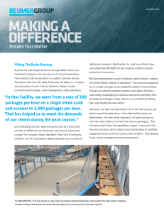 MAKING A DIFFERENCE Results that Matter Hitting The Docks Running