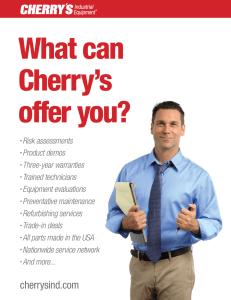 What can Cherry's offer you?