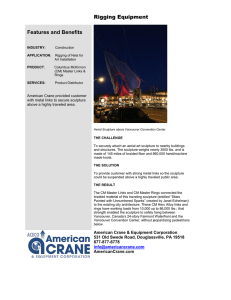 Rigging Equipment Features and Benefits American Crane provided customer